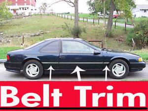 Ford THUNDERBIRD CHROME SIDE BELT TRIM DOOR MOLDING 1989 - 1997