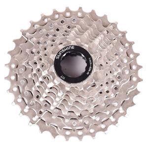 SUNSHINE MTB Bike 9 Speed 11-32T Freewheel Cassette Silver fit Shimano Sram