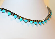 Turquoise Spike Chain Link Necklace