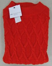 LIZ CLAIBORNE Women's Petite Sweater Pullover Red White Size PS, PM, PL, PXL NEW