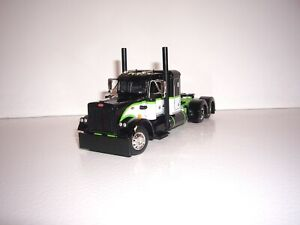 DCP FIRST GEAR 1/64 BLACK, WHITE AND LIMEGREEN PETERBILT 359 WITH 36'' SLEEPER