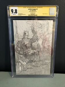 Justice League 1 Jim Lee Pencils Only Variant CGC SS 9.8 signed by Lee