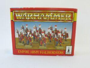 Warhammer Fantasy Empire Army Halberdiers Citadel Miniatures OOP Original Box