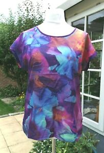 Size 12 - 14 Purple Multicolour, Short Sleeves Top, Atlas