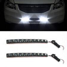 Universal 10 LED DRL 12V Weiß Nebelscheinwerfer Tagfahrlicher Blinkerleuchte