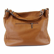 Marcela Italian Leather Ladies Handbags -  Cognac Leather Handbag