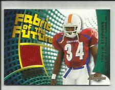 Travis Stephens 2002 Bowman Fabric of the Future Jersey #FF-TS  Tennessee & Bucs