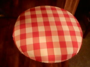Red Checked Bar Stool Cover