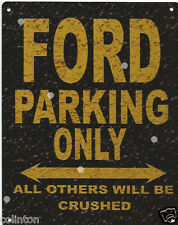 FORD PARKING METAL SIGN RUSTIC VINTAGE STYLE 6x8in 20x15cm garage