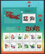 AUSTRALIA CHRISTMAS ISLANDS 2018 YEAR OF DOG & PRECIOUS FLOWERS SHEETLET USED