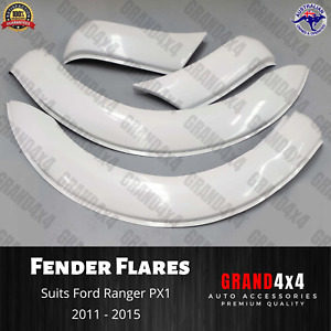 White Front Fender Flares for Ford Ranger PX1 2011 2012 2013 2014 2015 Guard