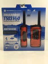 Motorola Talkabout T503 H2O Rechargeable 2-Way Radio (2 Radios) Waterproof