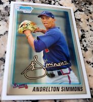 ANDRELTON SIMMONS 2010 Bowman Chrome Rookie Card RC Los Angeles Angels $ HOT $