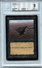MTG Beta Sink Hole BGS Graded 9.0 (9) Mint Card Magic The Gathering WOTC 7953
