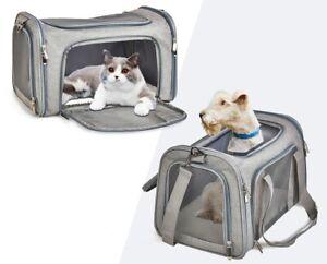 Dog Cat Carrier Breathable Bag Comfort Pet Travel Transport Cage Airline Tote