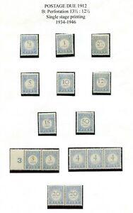Nederland, PORT zegels  / strippen 1912, postfris / ongebruikt ; opruiming, sale