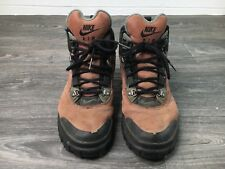 NIKE Hiking Boots 1994 VTG 90s Trail Outdoors Suede Mens Leather Size 8.5 Shoes