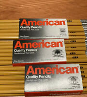 Vintage New Faber Castell American # 2.5 Pencils With Erasers Lot Of 36 Pieces