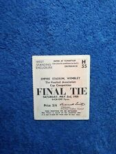 More details for 1959 fa cup final nottingham forest v luton town original ticket, freepost