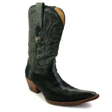 Mens Los Altos Boots Western Cowboy Boots Black Stingray Pointed Toe 9.5 M
