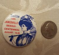 Belle 1985 Janesville Wisconsin Sesquicentennial Vintage Pinback
