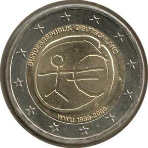 AL20009.1A - ALLEMAGNE - 2 euros commémo. 10 ans de l'UEM - 2009 A