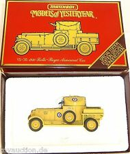 Rolls Royce Armoured Car Matchbox YS-38 Models of Yesteryear OVP 1:43    å√