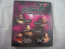 Star Trek The Next Generation Quotable Trading Card Binder and Base set