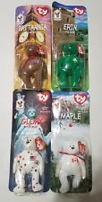 TY Beanie Babies 1999 McDonalds International Set Call 4 rare errors NIB retired