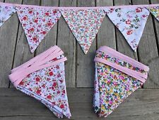 Bunting  - Pretty Floral Fabric Shabby Chic Vintage Boho Wedding Party Event 9ft