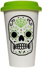 67099 Green Sugar Skull Tumbler Mug Day of the Dead Dia De Los Muertos Cup Gift