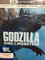 Godzilla King of the Monsters Blu-Ray/4K Ultra HD/Digital Steelbook NEW SEALED