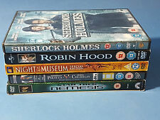 DVD Films Sherlock, Robin Hood, Night at the Museum, Nemesis Star Trek,etc