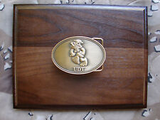 "U.S.NAVY Frogman ""Fire In The Hole"" ""UDT- Antique Brass Plated  Belt Buckle"""