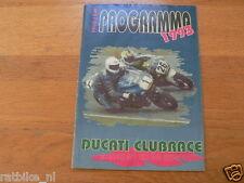 1993 DUCATI CLUBRACES CIRCUIT ASSEN PROGRAMMA,DUCATI CLUB NEDERLAND