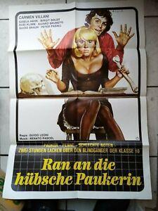 Ran an die hübsche Paukerin- Filmaushangplakat  ca. 84x 65 cm  -original
