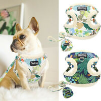 Warm Fleece Small Dog Harness and Leash Set & Treat Bag Pet Cat Puppy Walk Vest