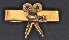 MOVIE CAMERA GOLD TIE CLIP