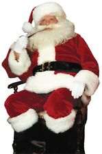 Santa Suit Crimson Imperial Adult Costume Claus Christmas Red Large