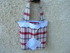 sac cabas shabby,fait main,sac a ouvrages double lin chanvre blanc,monogramme C