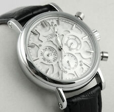New Men Multi Function AUTO Automatic Mechanical Luxury Wrist Watch Date Leather