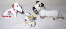 1927 Walter Bosse 3 Porcelain Dog Figurines Miniature Germany Metzler Ortloff