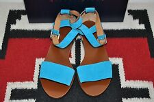 Ralph Lauren Collection Purple Label Mabel Blue Leather Sport Sandals 9 B