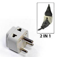 OREI 2 in 1 India Travel Adapter Plug - US to IN Type D - Universal Grounded