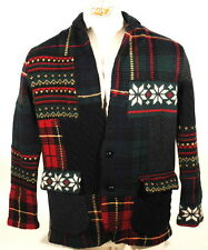 Polo Ralph Lauren Indian Intarsia Patchwork Sweater Cardigan Jacket $1498 S B2A