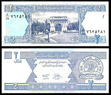 World Paper Money - Afghanistan 2 Afghanis 2002 P65 @ Crisp UNC