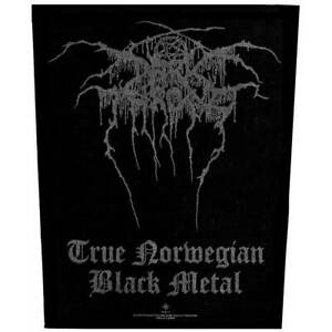 "DARKTHRONE - ""TRUE NORWEGIAN BLACK METAL"" - LARGE SIZE - SEW ON BACK PATCH"