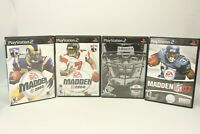 Lot of 4 Madden NFL Sports Football Games (Sony PlayStation 2) PS2 Complete