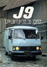 Catalogue publicitaire PEUGEOT J9 Utilitaire 1980