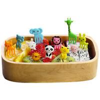10pcs Mini Cute Animal Bento Food Fruit Picks Forks Lunch Box Decor Kids Tool